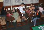 stůl první ZMisulka naproti BarTackA, stůl druhý zleva do prava okolo stolu: Pan.Filuta. a Smajly666 *14* K.a.N.T.y., pajda, Singea
